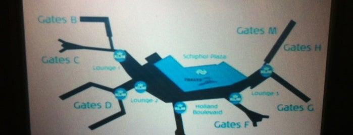 Aeroporto de Amesterdão Schiphol (AMS) is one of Airports of the World.