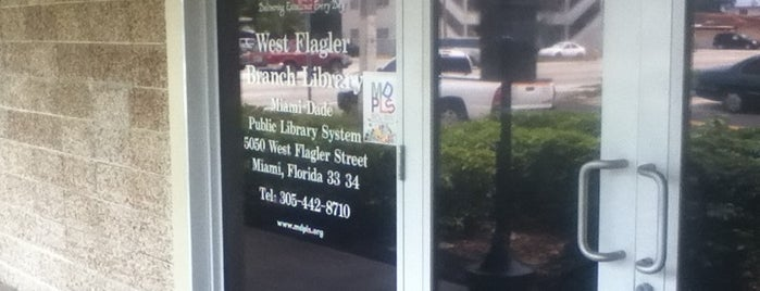 West Flager Branch Library - Miami-Dade Public Library System is one of สถานที่ที่ Liz ถูกใจ.