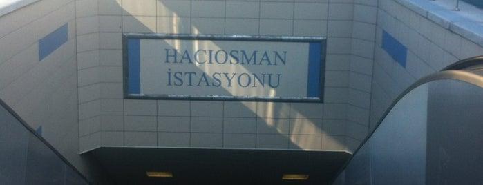 Hacıosman Metro İstasyonu is one of Lieux sauvegardés par Derya.