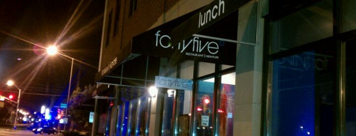 Forty Five Degrees is one of Indy vegan.