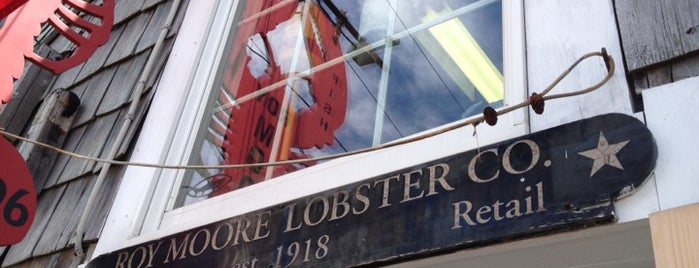 Roy Moore Lobster Company is one of Maine.