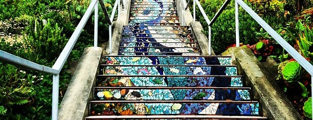 Golden Gate Heights Mosaic Stairway is one of La to sf.