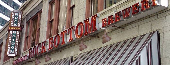Rock Bottom Restaurant & Brewery is one of Chicago area breweries.