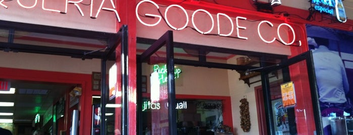 Goode Company Hamburgers & Taqueria is one of Lugares favoritos de Lola.