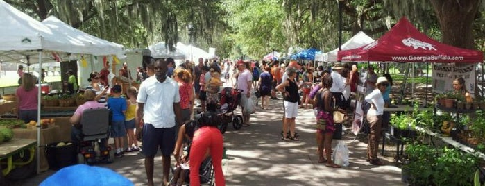 Forsyth Farmers Market is one of Savannah GA.