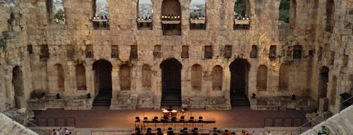 Herod Atticus Odeon is one of Athens.