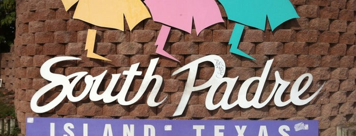 South Padre Island Sign is one of SPI - Spring Break South Padre Island.