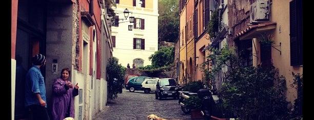 Intrastevere is one of Trastevere.