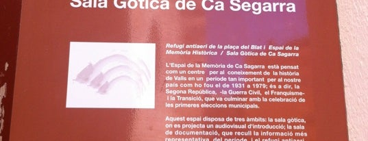 "Can Sagarra is one of Ruta ""Espais amagats sota terra""."