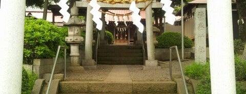弦巻神社 is one of 神輿で訪れた場所-1.