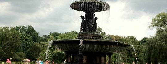 Bethesda Fountain is one of NY.