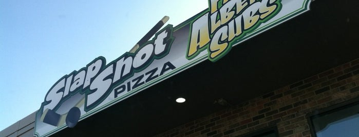 SLAP SHOT PIZZA & FAT ALBERT'S SUBS is one of Eric O.'s Favorite Pizza.