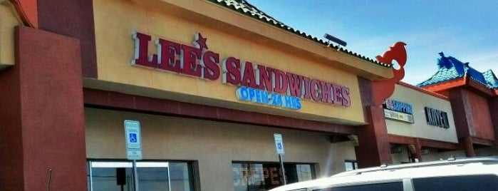 Lee's Sandwiches is one of Lugares favoritos de Jorge.