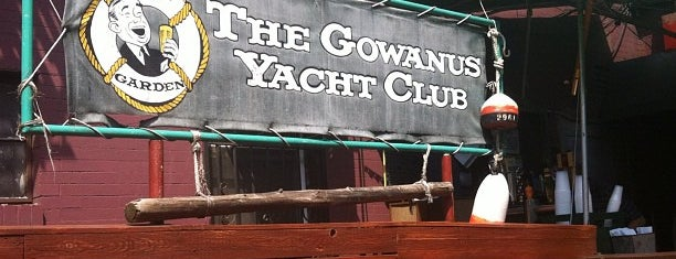 Gowanus Yacht Club is one of rooftop/outdoor drinking..