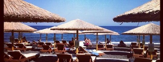 Kamari Beach is one of 5 days in Santorini.
