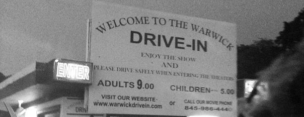 Warwick Drive-In Theater is one of TAKE ME TO THE DRIVE-IN, BABY.