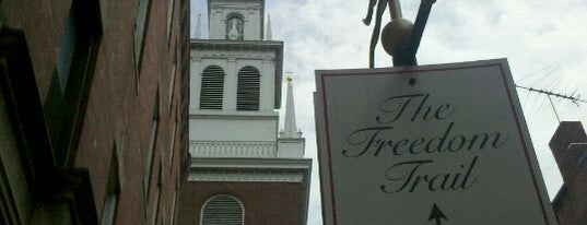 The Old North Church is one of Downtown Boston, Chinatown & North End.