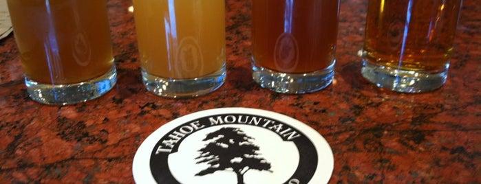 Tahoe Mountain Brewing Co. is one of Tahoe picks.