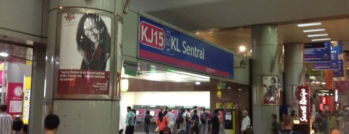RapidKL KL Sentral (KJ15) LRT Station is one of マレーシア.