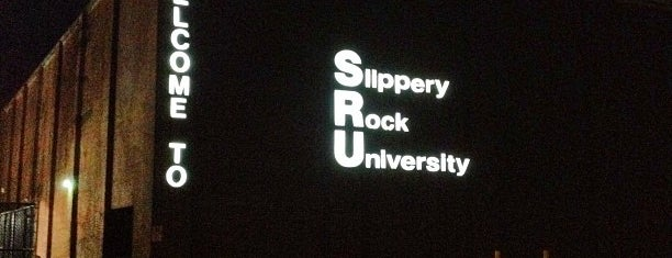 Slippery Rock University is one of Orte, die Wayne gefallen.