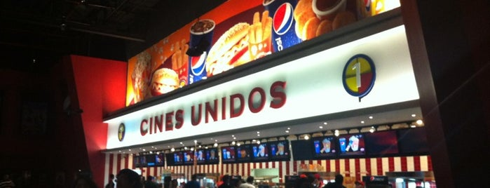 Cines Unidos is one of Tempat yang Disukai Massiel.