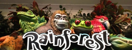 Rainforest Cafe is one of Favorite Kid Places in Chicago.