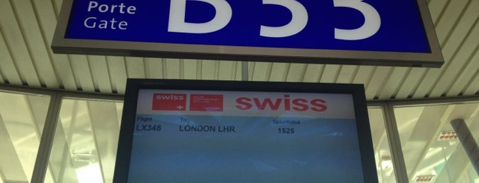 Gate B33 is one of Geneva (GVA) airport venues.