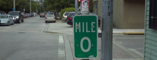 US-1 Mile Marker 0 is one of Key West.