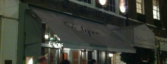 The Elysee Restaurant and Roof Garden is one of London Food.