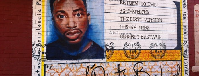 ODB Mural is one of Fort Greene/Clinton Hill/Bed-Stuy.