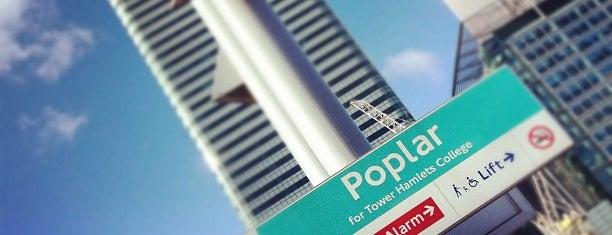 Poplar DLR Station is one of Orte, die Barry gefallen.