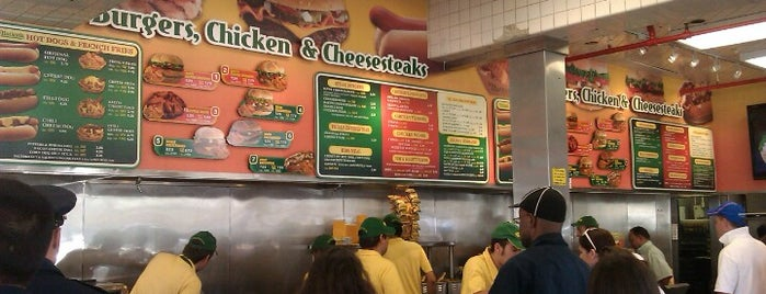 Nathan's Famous is one of New York City Tourists' Hits.