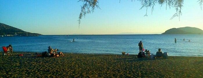 pefkakia beach is one of Tempat yang Disukai Konstantinos.