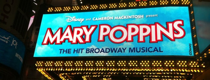 Disney's MARY POPPINS at the New Amsterdam Theatre is one of Tempat yang Disukai Gordon.