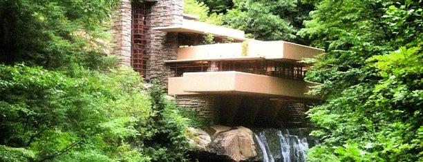 Fallingwater is one of Frank Lloyd Wright sited.