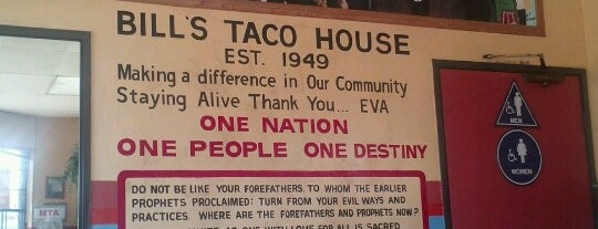 Bill's Taco House is one of Eater/Thrillist/Infatuation.