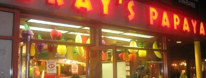 Gray's Papaya is one of NY.