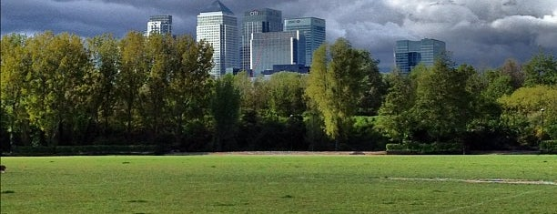 Millwall Park is one of Greenwich and Docklands; London.