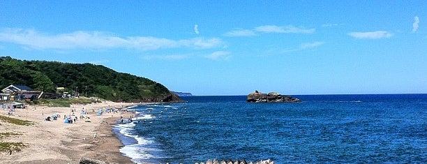 白兎海岸 is one of 日本の渚百選.