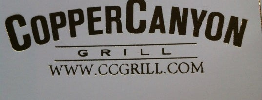 Copper Canyon Grill is one of Good eats.