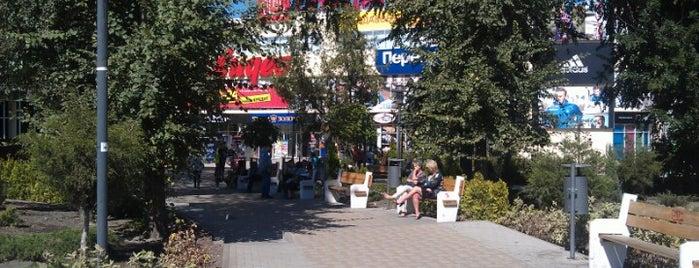 """Сквер перед ТЦ """"Сити-Центр"""" is one of สถานที่ที่ Tanya ถูกใจ."""