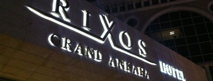 Rixos Grand Ankara is one of Yasin'in Beğendiği Mekanlar.
