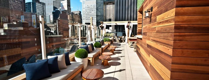 Haven at the Sanctuary Hotel is one of Rooftop Bars with Drinks to get Drunk in NYC.