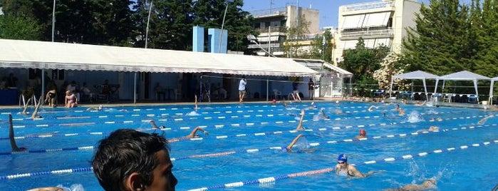 Δημοτικό Κολυμβητήριο Αιγάλεω is one of Tempat yang Disukai maria.
