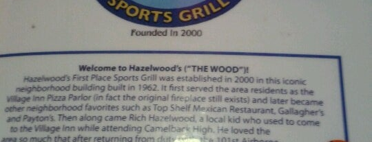 Hazelwood's 1st Place Sports Grill is one of Biltmore-Arcadia Fun.