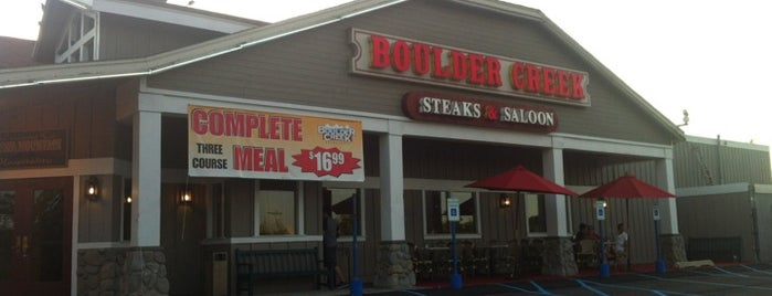 Boulder Creek Steakhouse is one of Locais curtidos por Christopher.