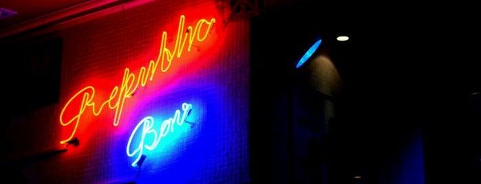 Republic The Bar is one of Bares e Empórios em São Paulo.