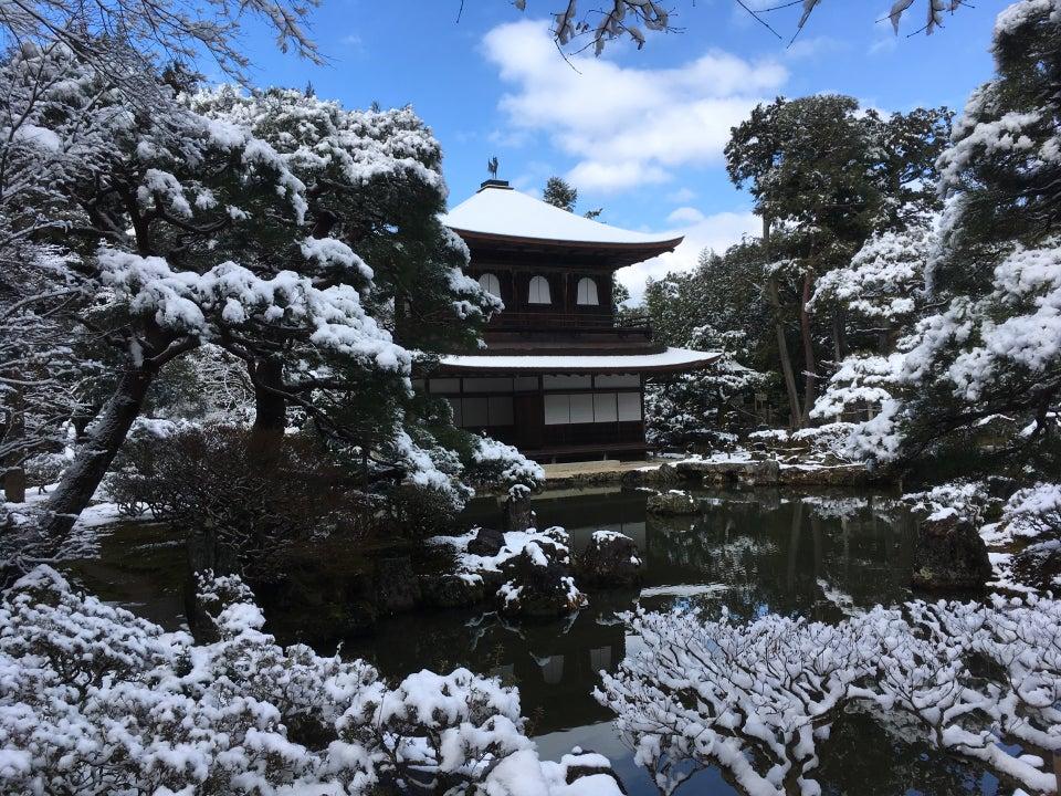 銀閣寺 冬天