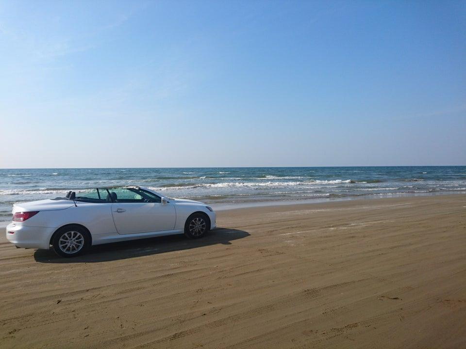 千里浜沙灘車道