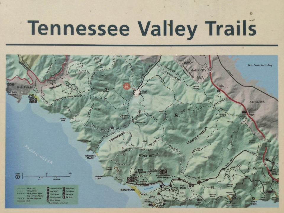 Map of Tennessee Valley Trails.